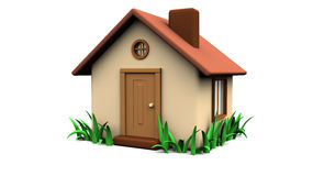 Home with grass Royalty Free Stock Image
