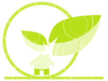 Home green illustration Royalty Free Stock Images