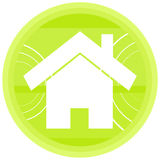 Home green illustration Stock Image
