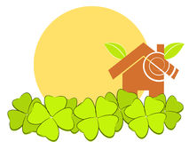 Home green illustration Royalty Free Stock Photography