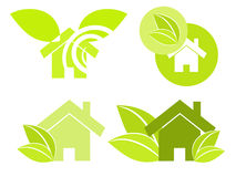 Home green illustration Stock Photography