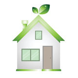 Home green low energy save The word Stock Image