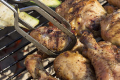 Home Grilled Barbeque Chicken With No Sauce Close Up Royalty Free Stock Photo