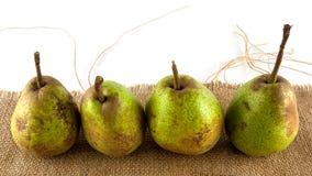 Home grown organic pears Stock Photo
