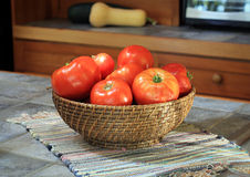 Home Grown Tomatoes Royalty Free Stock Photography