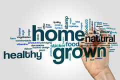 Home grown word cloud Stock Photo