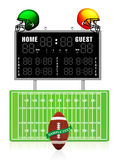 Home and Guest Scoreboard Stock Photography