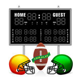 Home and Guest Scoreboard Royalty Free Stock Photo