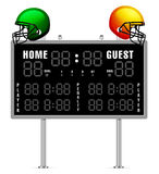 Home and Guest Scoreboard Royalty Free Stock Photos