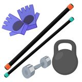 Home gym equipment Stock Images