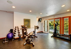 Home gym interior royalty free stock photography