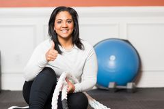 Home Gym Workout Royalty Free Stock Images