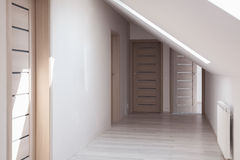 Home hallway in neutral colors Stock Photos