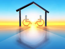 Home and handicap Stock Photography