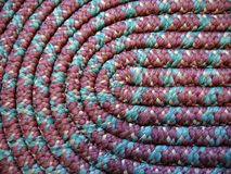 Home: handmade coiled rag rug detail Royalty Free Stock Photography