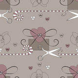 Home and handmade decoration style vector background Royalty Free Stock Image