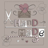 Home and handmade decoration style vector background Stock Images