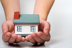 Home in Hands Royalty Free Stock Photography