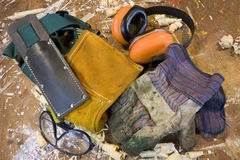 Home handyman safety gear Royalty Free Stock Image