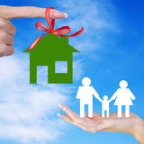 Home and Happy Family Stock Image
