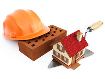 Home and hardhat Royalty Free Stock Photography