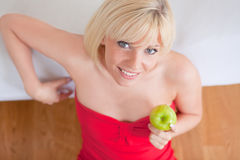 Home health blonde woman Royalty Free Stock Image