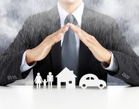 Home, health, car, insurance concept Stock Image