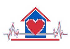 Home health care. An illustration of home health care icon Stock Images