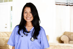 Home  Health Care Worker. Home health care worker inside of a house Stock Photography
