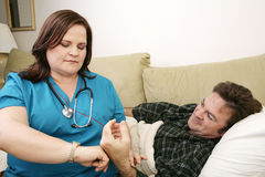 Home Health - Pulse Stock Photo