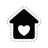 Home heart love romance ornament pictogram. Illustration eps 10 Stock Photography