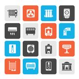 Home Heating appliances icons. Vector icon set royalty free illustration