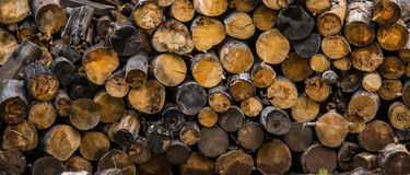 Home Heating Firewood Background Royalty Free Stock Photos