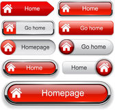 Home High-detailed Web Button Collection. Royalty Free Stock Image