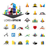 Home and house building architecture vector logo icons Royalty Free Stock Images