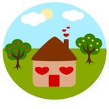 Home house colorful concept logo Stock Photo