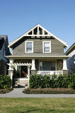 Home House Exterior. Front view of new home for sale in Vancouver, BC royalty free stock photo