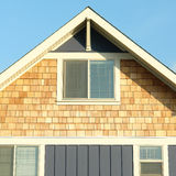 Home House Exterior Siding Roof Gable Stock Photography