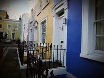 Home house facade front townhouses. Britain england British English London UK estate Stock Photography