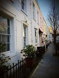 Home house facade front townhouses. England Britain British home house Stock Photos