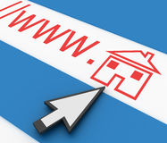 Home, house icon Royalty Free Stock Photography