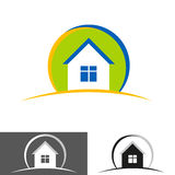 Home, house icon, logo. Home logo design isolated on white background Stock Image