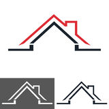 Home, house icon, logo. Home logo design isolated on white background Royalty Free Stock Photography