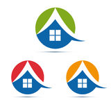 Home, house icon, logo Stock Photos