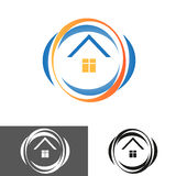 Home, house icon, logo Royalty Free Stock Image