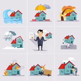 Home and House Insurance Stock Image