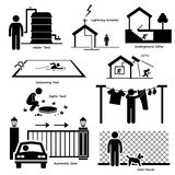 Home House Outdoor Structure Infrastructure and Fixtures Cliparts Stock Photo