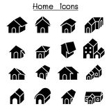 Home, House, Residential ,Apartment icon set Royalty Free Stock Photos