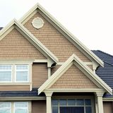 Home House Roof Siding Peaks Stock Images