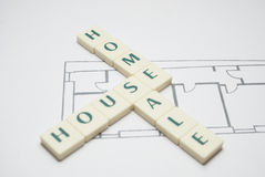 Home House and Sale. Three important words. Home, House and....Sale Stock Photography